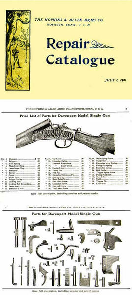 Hopkins & Allen 1911 Arms Co. Repair & Parts Catalogue