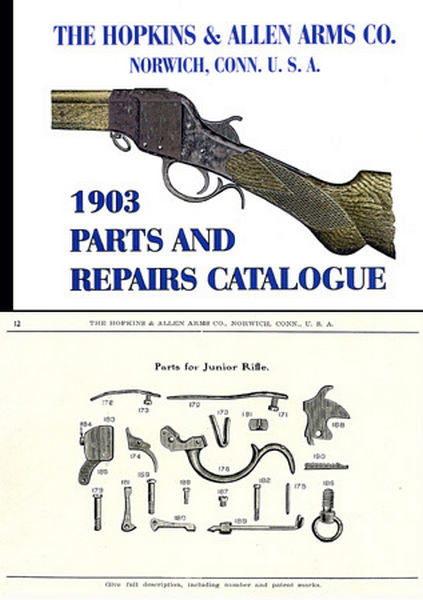 Hopkins & Allen 1903 Arms Parts and Repairs Catalog