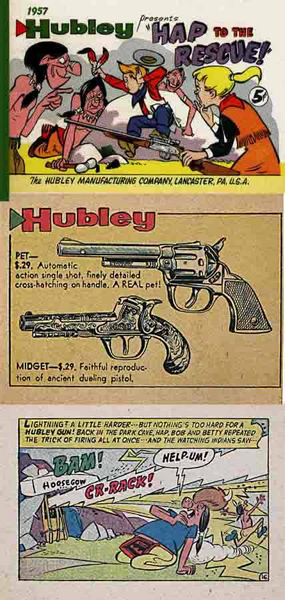 Hubley 1957 Mfg Co Comic Book & Cap Gun Catalog