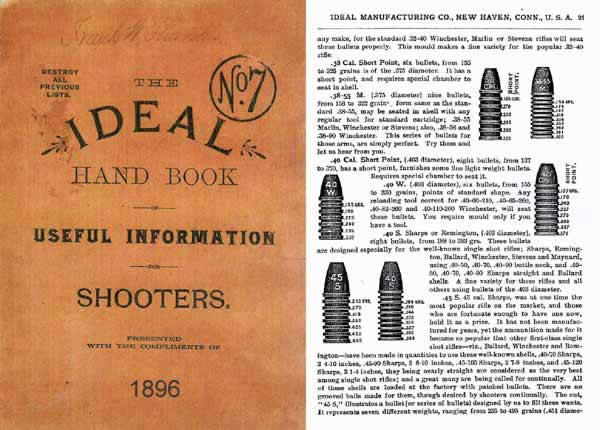 Ideal 1896 Handbook of Useful Information for Shooters No.7