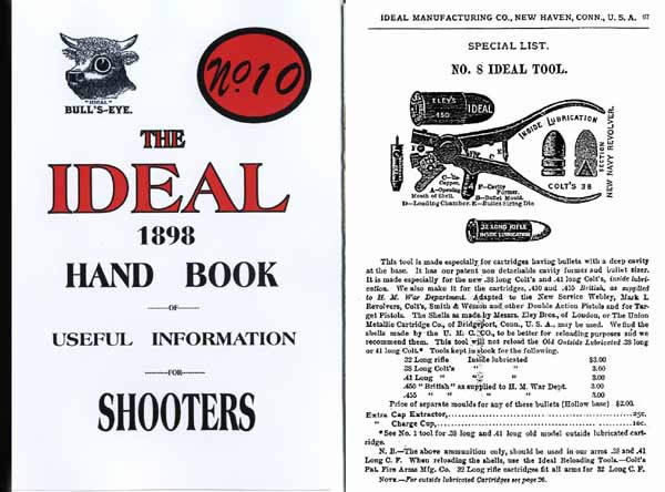 Ideal 1898 Hand Book of Useful Information for Shooters #10