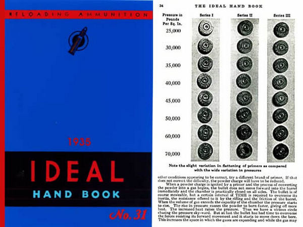 Ideal 1935 Hand Book of Useful Information for Shooters No .31