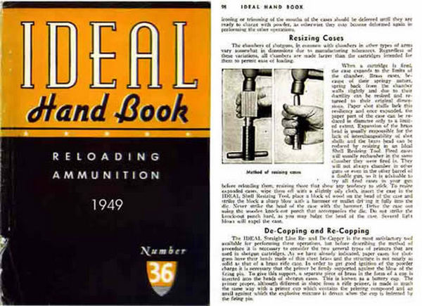 Ideal 1949 Hand Book of Useful Information for Shooters No. 36