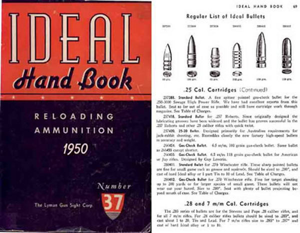 Ideal 1950 Hand Book No. 37 - Ammunition & Reloading
