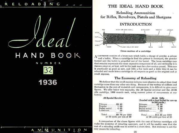 Ideal 1936 Hand Book No. 32, - Ammunition & Reloading