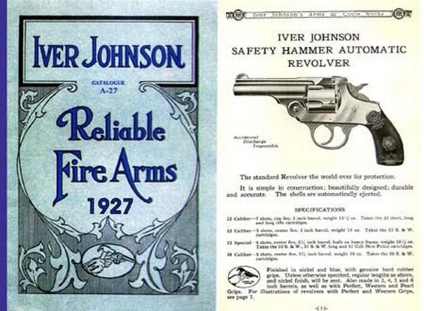 Iver Johnson 1927 Reliable Fire Arms Gun Catalog A-27