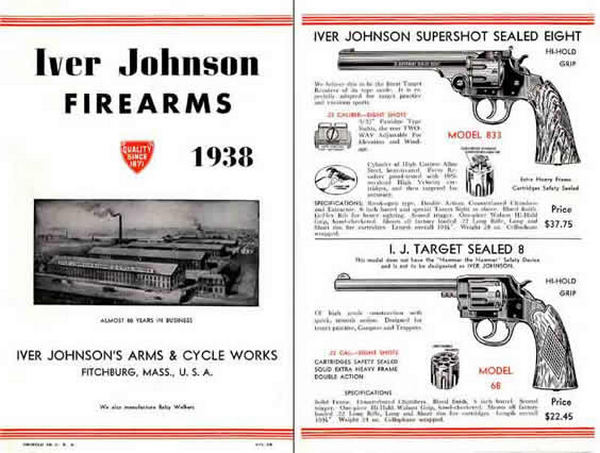 Iver Johnson 1938 Arms Gun Catalog