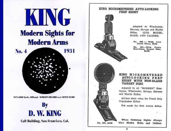 King Modern Sights 1931 Catalog