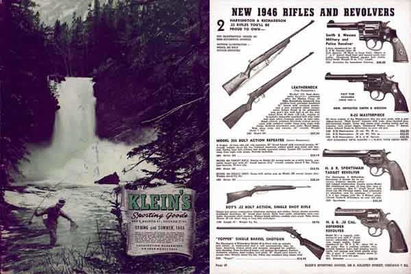 Klein's 1946 Sporting Goods & Gun Catalog (Chicago)