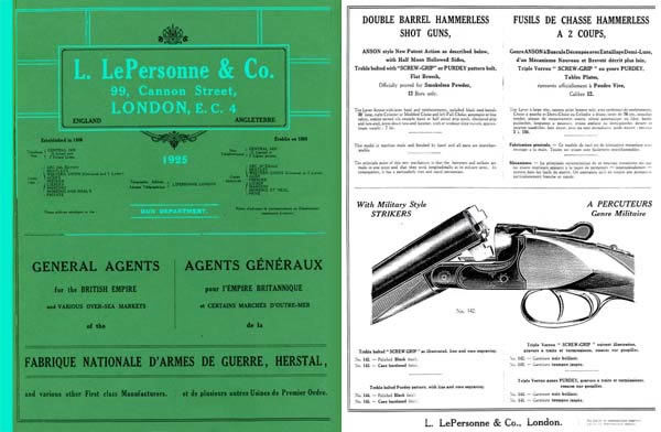 L. LePersonne and Co. 1925 Gun Catalogue (UK)