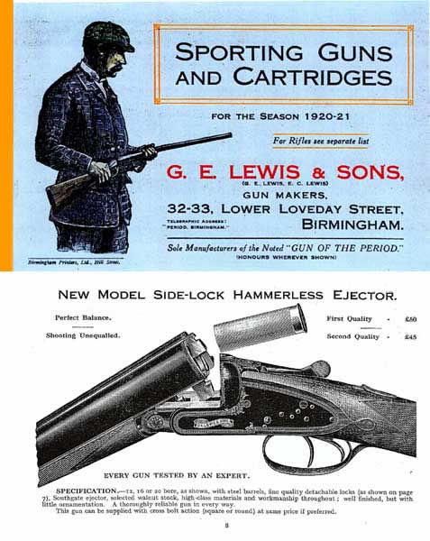 GE Lewis & Sons 1920 ( UK ) Gun Catalog - Picture 1