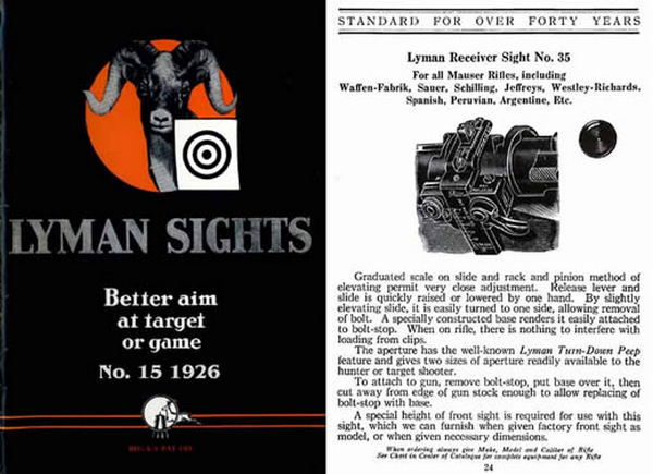 Lyman 1926 Gun Sights Catalog #15