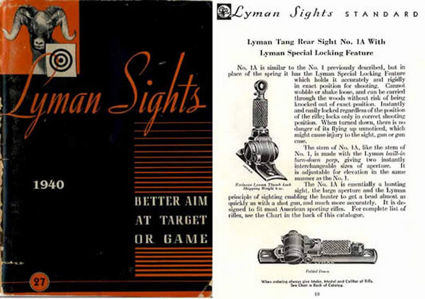 Lyman 1940 Gun Sights No. 27 Catalog