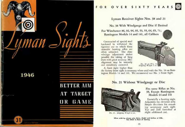 Lyman 1946 Gun Sights Catalog #31
