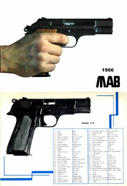 MAB (French) Automatic Pistols 1966 Gun Catalog
