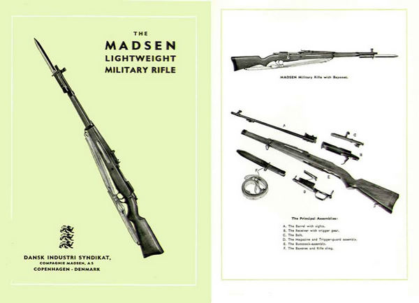 Madsen ( Denmark ) Lightweight Military Rifle 1952 Gun Catalog