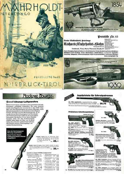 Mahrholdt 1939 Catalogue #65 Guns & Supplies (Innsbruck, Austria)