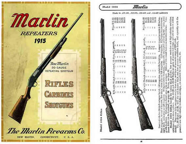 Marlin 1915 Firearms Company Gun Catalog