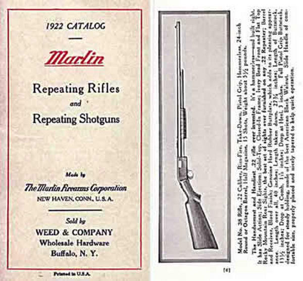 Marlin 1922 Repeating Rifles and Shotguns Catalog