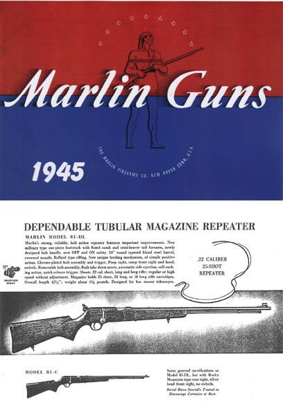 Marlin 1945 Firearms Company Gun Catalog