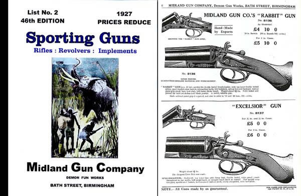 Midland Sporting Guns 46th ed - 1927 Catalogue