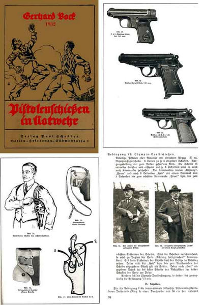 Pistolen-Schiefen in Notwehr 1932 (Pistol shooting in Self Defense)