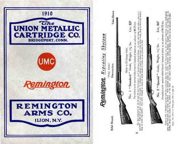 Remington 1910 Guns and Parts/Union Metallic Cartridge Company