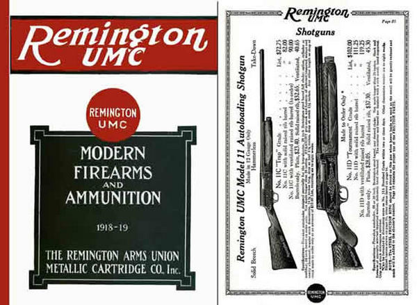 Remington 1918-19 Gun & UMC Ammunition Catalog