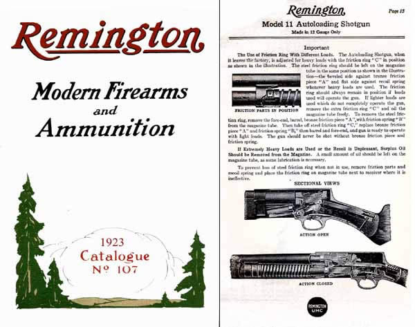 Remington 1923 Firearms & Ammo No. 107 Gun Catalog