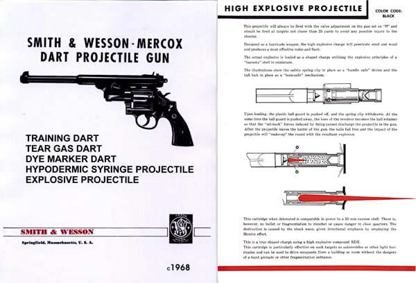 Smith & Wesson 1968 Mercox Dart Gun Catalog