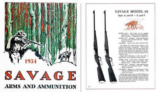 Savage 1934 Gun and Ammunition Catalog