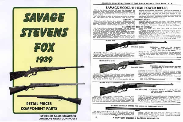 Savage 1939, Stevens, Fox Stoeger Gun & Parts Catalog