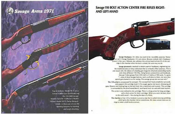 Savage 1971 Arms Catalog