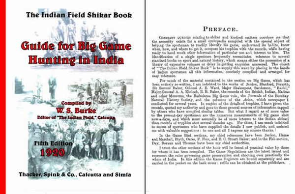 Guide to Big Game Hunting in India- 1920 Shikar Field Book