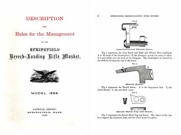 U.S. Rifle Springfield Breech Loading Model 1868 Manual