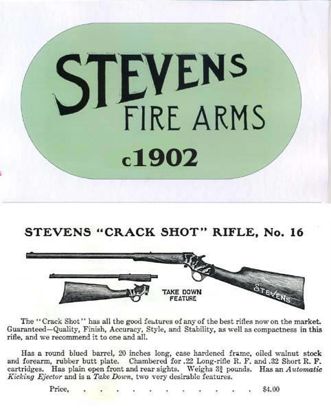 Stevens c.1902 Fire Arms Abridged Catalogue
