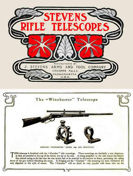 Stevens 1903 Gun Telescopes and Mountings Catalog