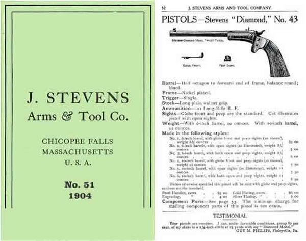 Stevens c1904 Arms & Tool Company No. 51 (earlier issue)