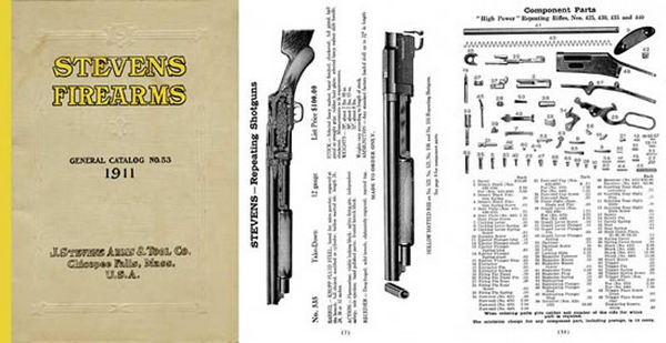 Stevens 1911 Firearms General Catalog & Component Parts No. 53