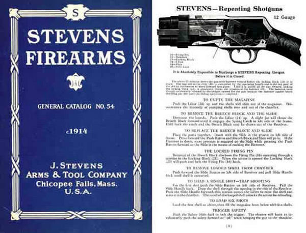 Stevens c1914 Firearms # 54 General Catalog