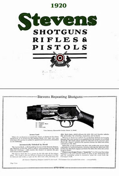 Stevens c1920 Firearms General # 55 Catalog