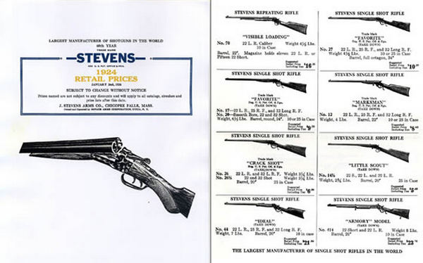 Stevens 1924 Arms Company Short Catalog