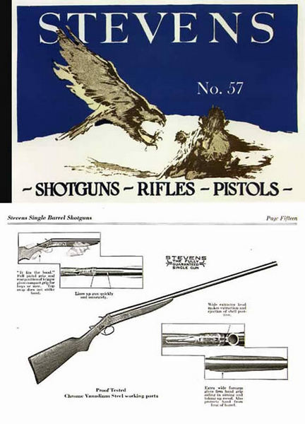 Stevens c1928 Rifle, Shot Gun, Pistol #57 Catalog