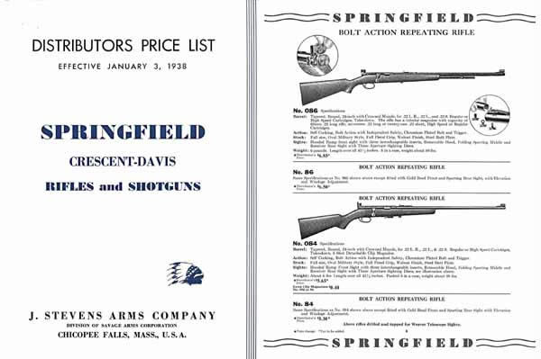 Stevens 1938 Springfield and Crescent/Davis Distributors Catalog