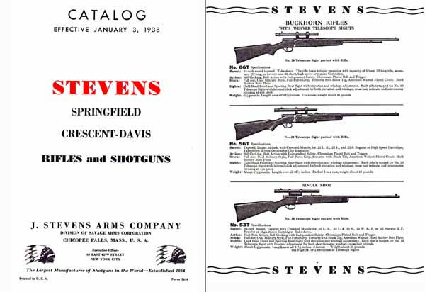 Stevens 1938-Springfield and Crescent/Davis Catalog