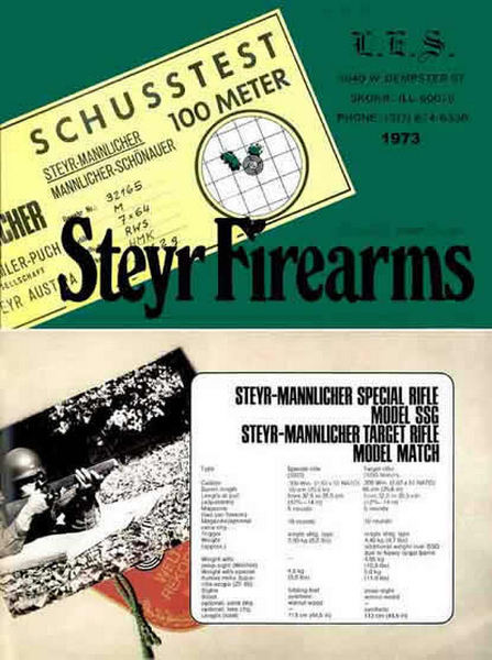 Steyr-Mannlicher Schoenauer Repeating Sporting Rifles 1973 (in English-Catalog)