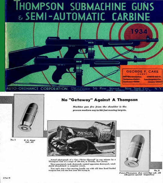 Thompson 1934 Submachine & Semi-Auto Carbines Catalog