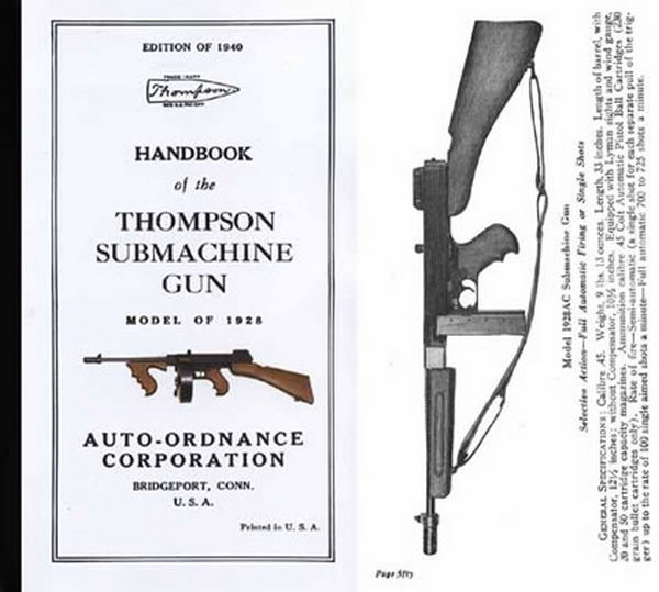 Thompson 1940 Manual- Submachinegun Handbook of Model 1928