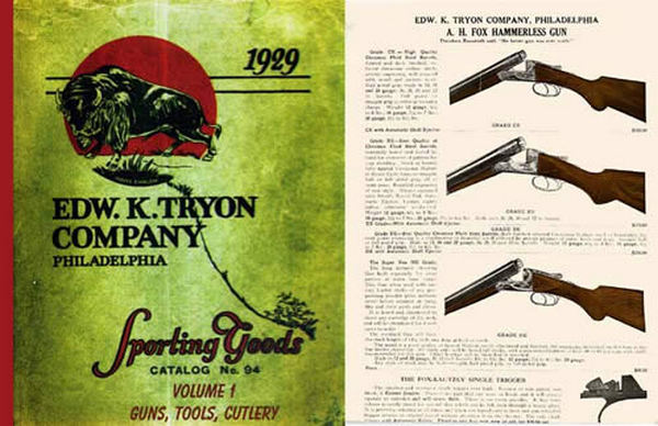 Edw K. Tryon Company Sporting Goods 1929 Volume # 1 of Catalog no. 94 Guns, Tools and Cutlery