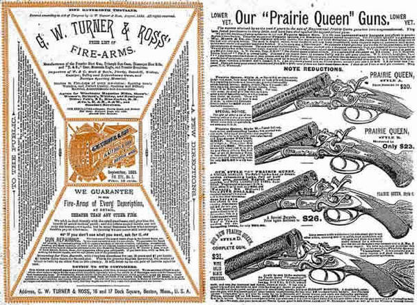 GW Turner & Ross 1883 Fire Arms Gun Catalog (Boston)